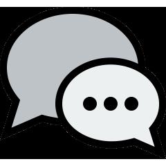 Icono bocadillos de texto